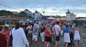 Marché nocturne port Bourgenay - a3pb croisières